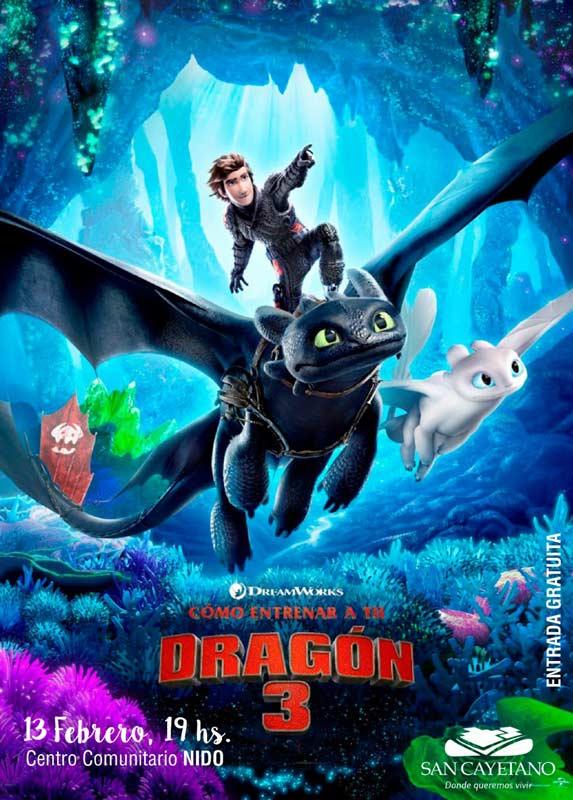 Ciclo de cine infantil en el Centro Comunitario NIDO este jueves se proyecta «Cómo entrenar a tu dragón 3»