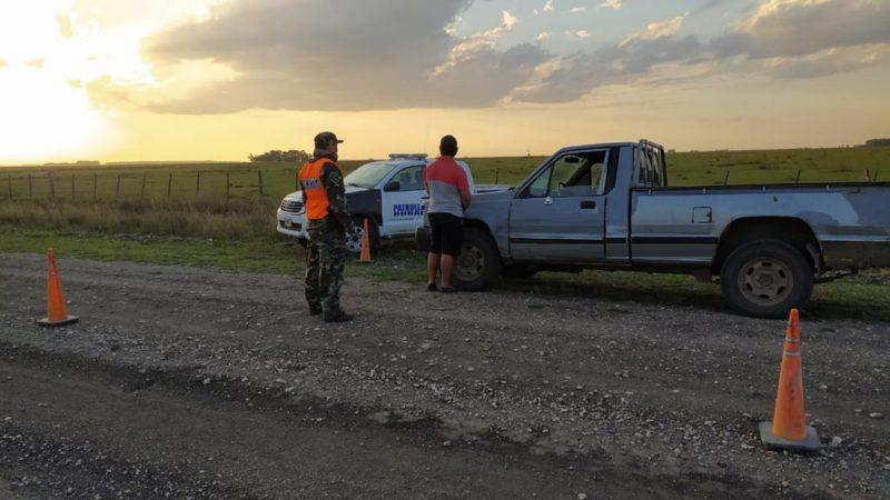 Patrulla Rural San Cayetano demoró a sujeto armado en zona rural