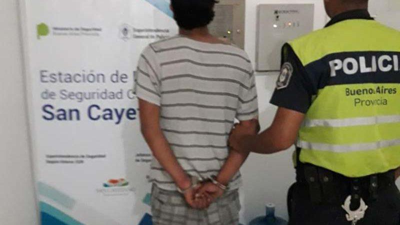 Detienen a un arrebatador de Quequén en San Cayetano