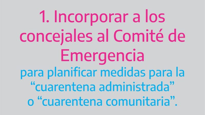 Propuestas de concejales del interbloque Unidad Peronista por situación de Coronavirus