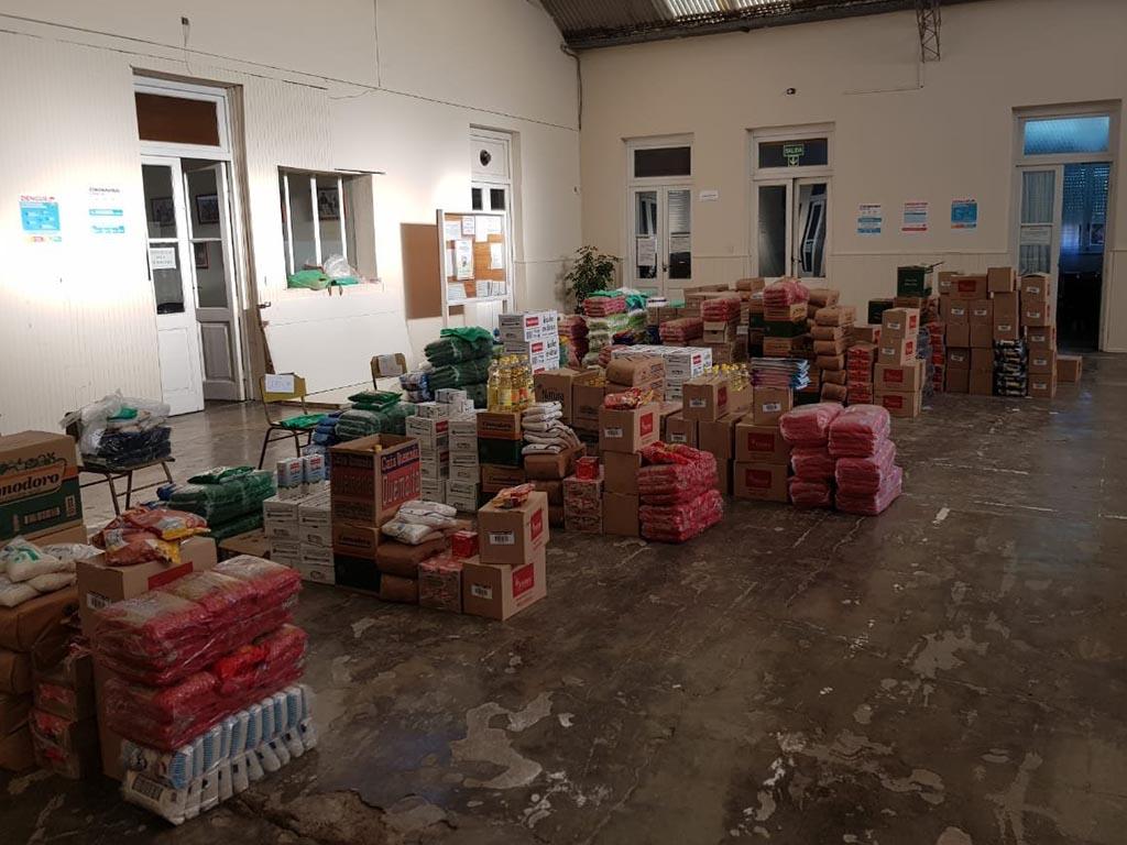 Entrega de mercadería del Servicio Alimentario Escolar