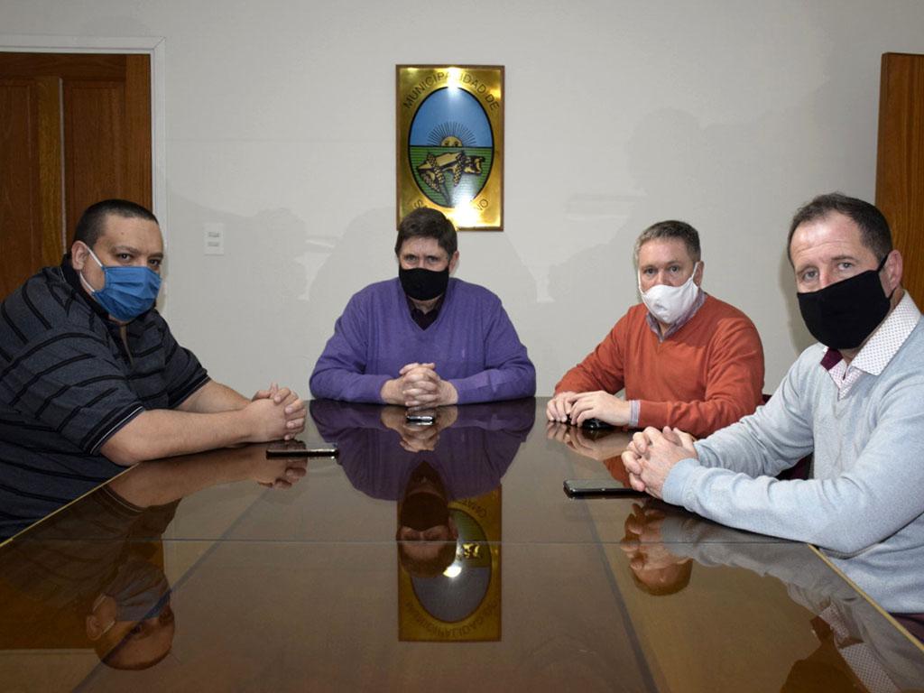 Gargaglione recibió al nuevo Jefe de ANSES San Cayetano