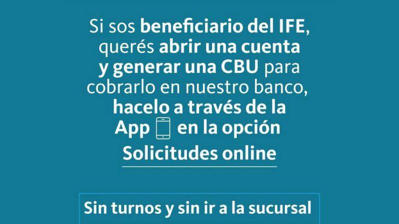 Información del Banco Nación sobre Ingreso Familiar de Emergencia