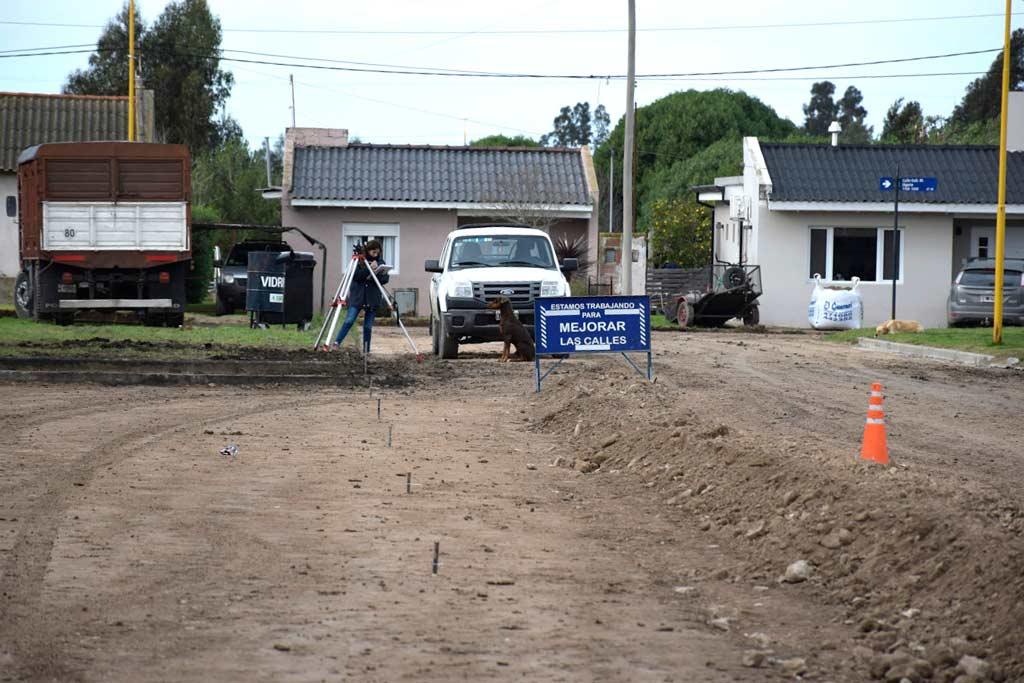 Comenzó un nuevo plan de pavimento urbano