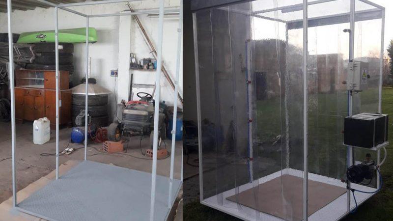 Nueva cabina sanitizante del Molino Harinero San Cayetano