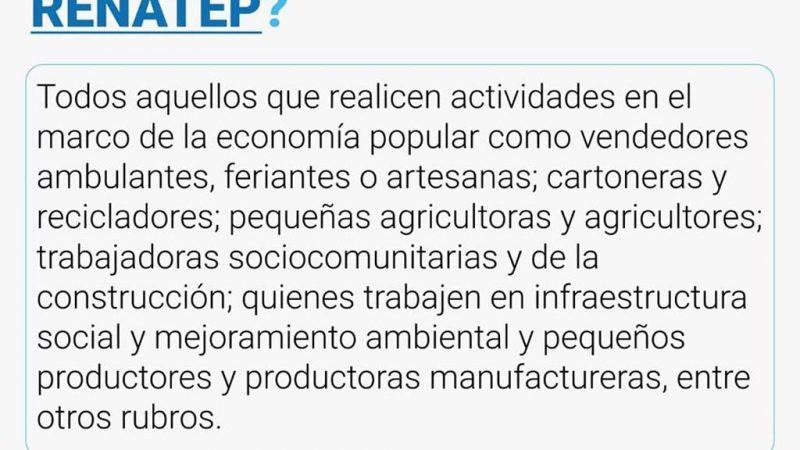 Inscripción al Registro Nacional a Trabajadores/as de la Economía Popular