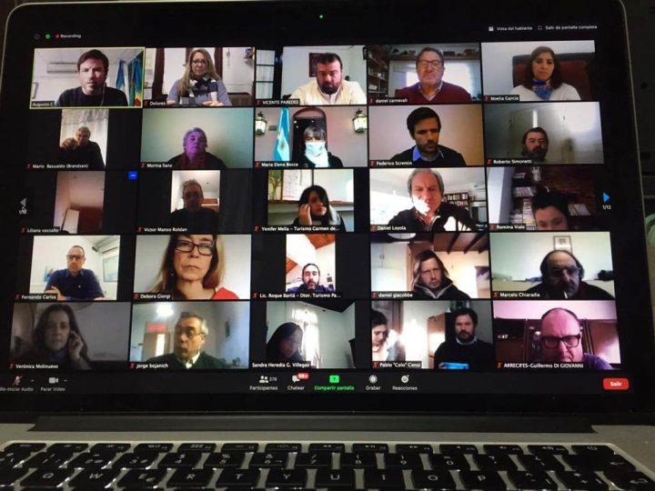 San Cayetano participó de reunión virtual encabezada por el Ministro Costa