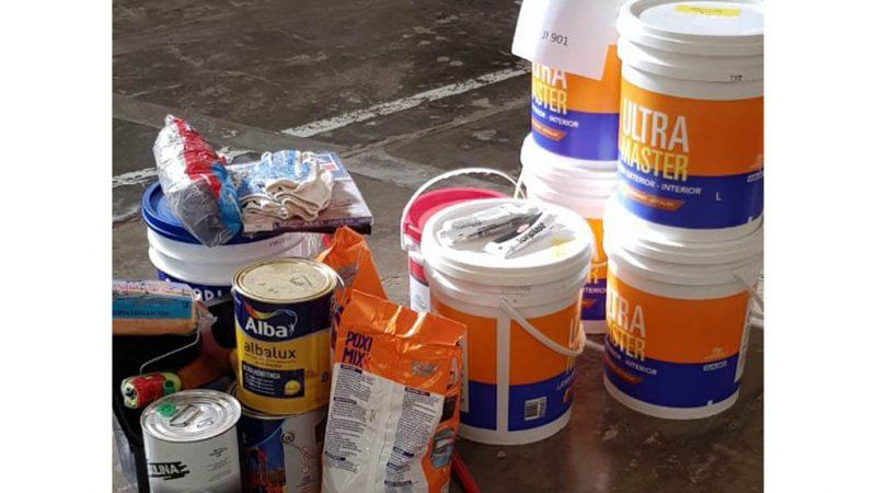 Consejo Escolar continuó con la entrega de material de pintura