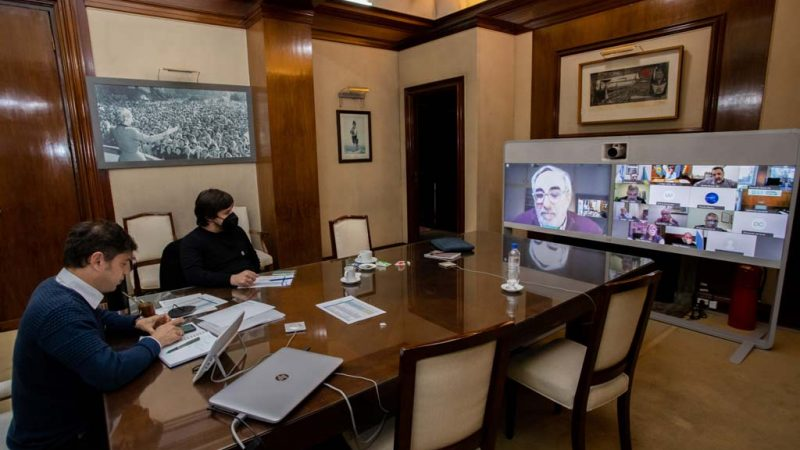 Gargaglione participó de la reunión que mantuvo Kicillof con intendentes del interior