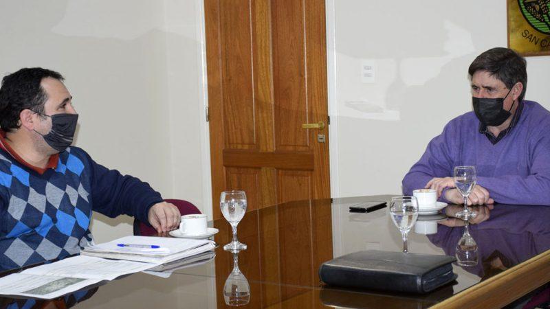 Gargaglione recibió al delegado del Instituto de la Vivienda