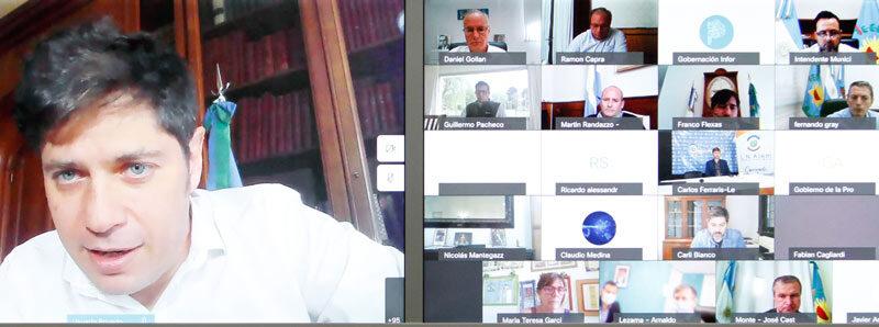 El Intendente Gargalione participó del encuentro virtual que encabezó el Gobernador de la Provincia de Buenos Aires