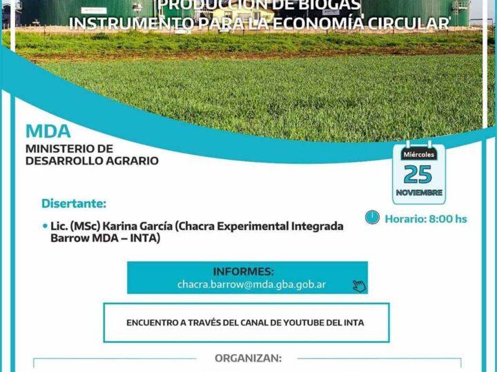 Capacitación virtual sobre la producción de biogás