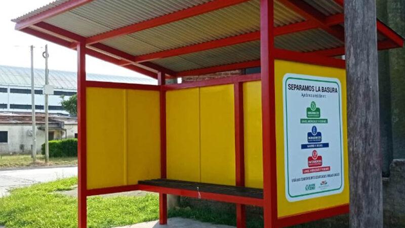 Garita intervenida: campaña de separación de residuos