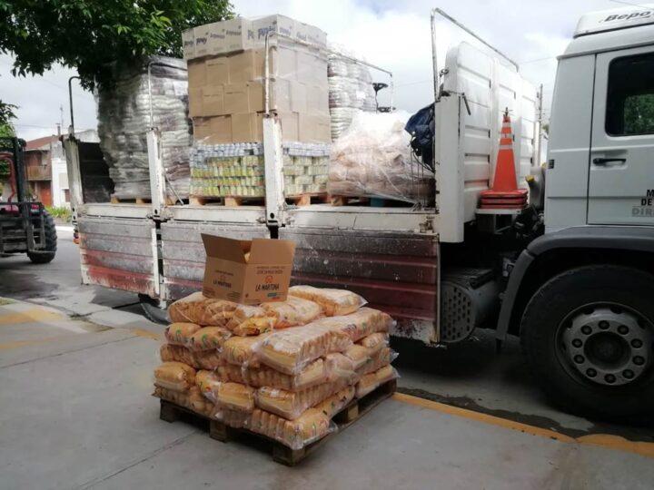 Provincia envió alimentos