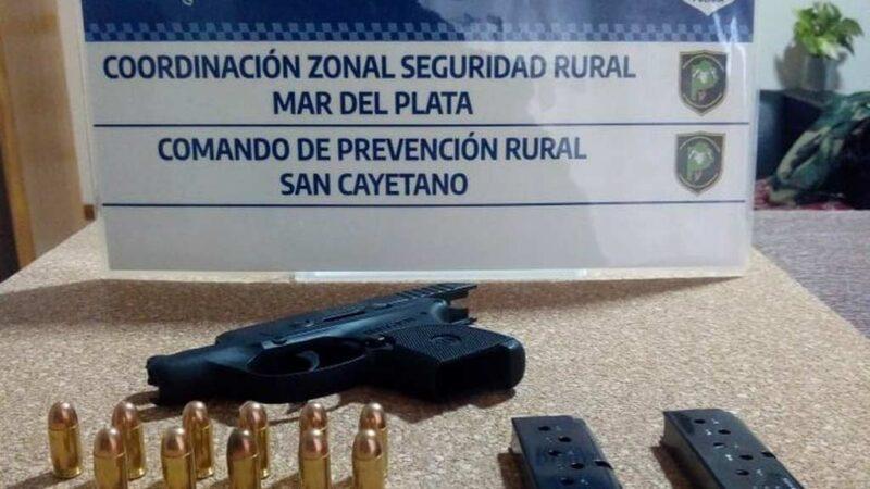 El CPR de San Cayetano aprehendió a sujeto por portación de arma de fuego