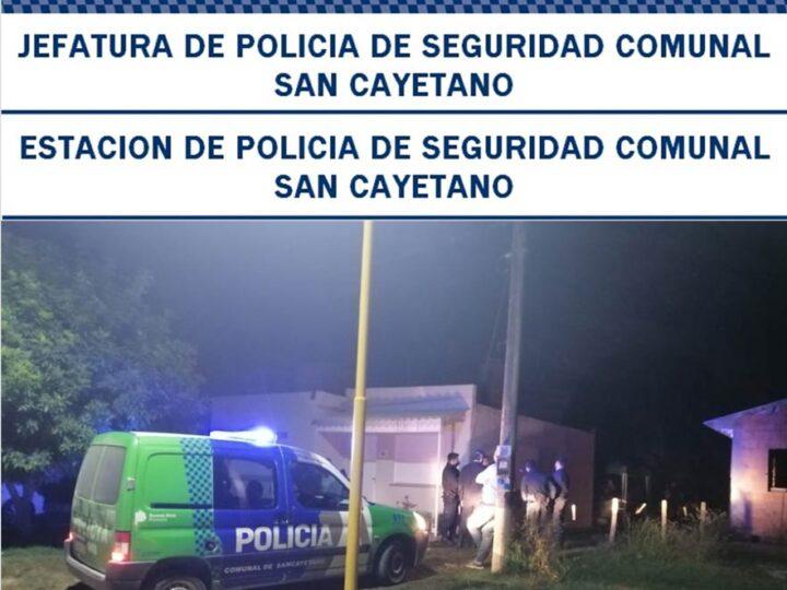 Infracciones en fiesta clandestina en San Cayetano