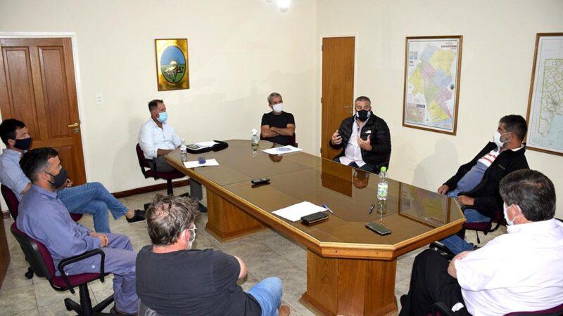 Gargaglione se reunió con autoridades de la Liga Necochea de Fútbol