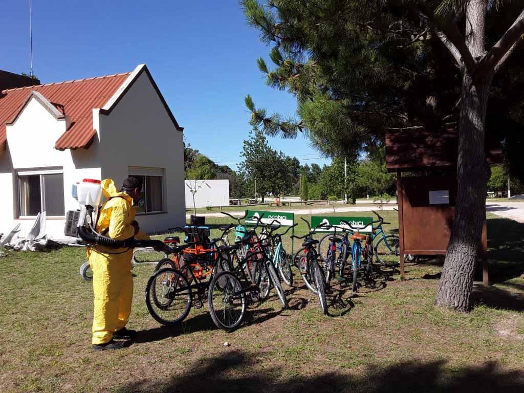 Desinfección en el Balneario San Cayetano