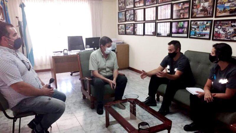 Presencia de funcionarios de la Dirección General de Defensa Civil