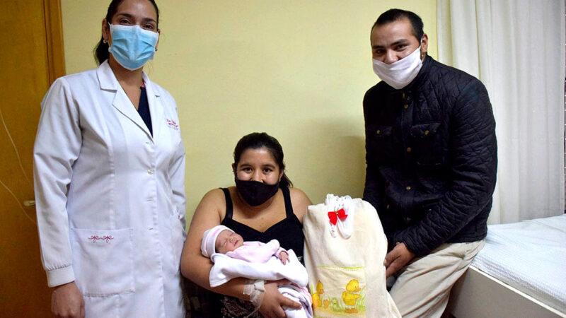 Primer nacimiento del año en el Hospital de San Cayetano